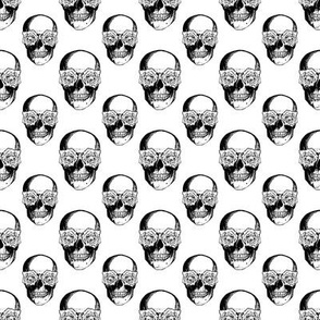 Skulls and Roses | Black and White