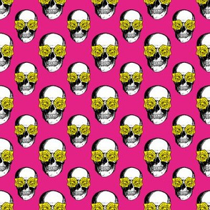 Skulls and Roses | Pink and Yellow