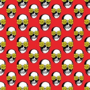 Skulls and Roses | Red and Yellow