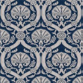 Silver Blue Ottoman