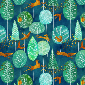 golden denizens of an emerald forest