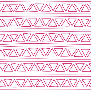 pink lines and triangles