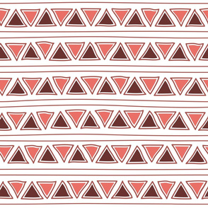 pastel pink ethnic lines and triangles