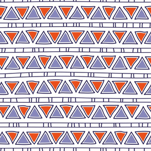 ethnic lines, violet and pink triangles