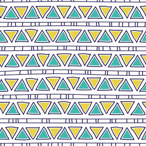 ethnic lines, green and yellow triangles