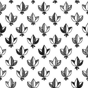 black and white heraldic pattern