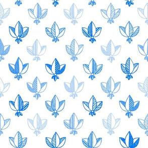 blue on white heraldic pattern