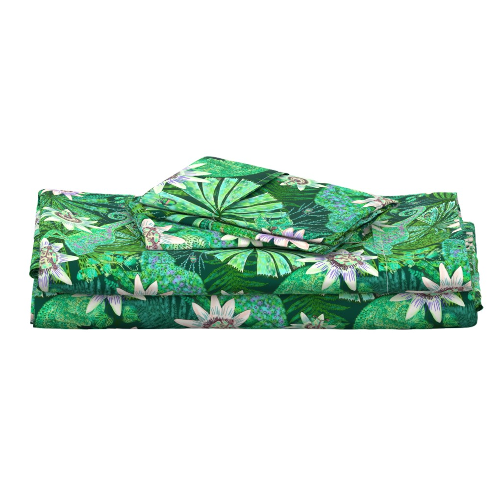 Langshan Full Bed Set featuring Emerald Canopy for Emerald Chameleon by helenpdesigns