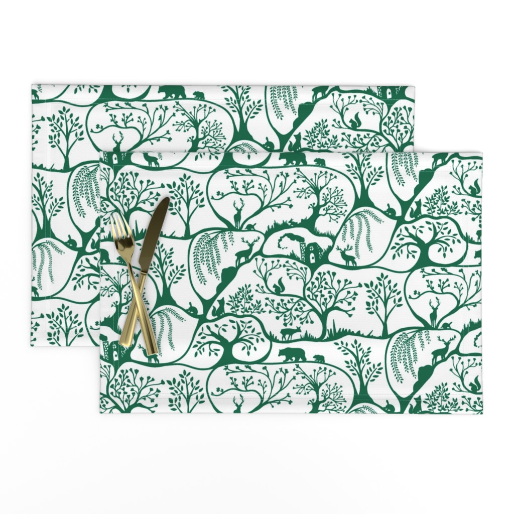 Lamona Cloth Placemats featuring Emerald Forest by melanie_hodge