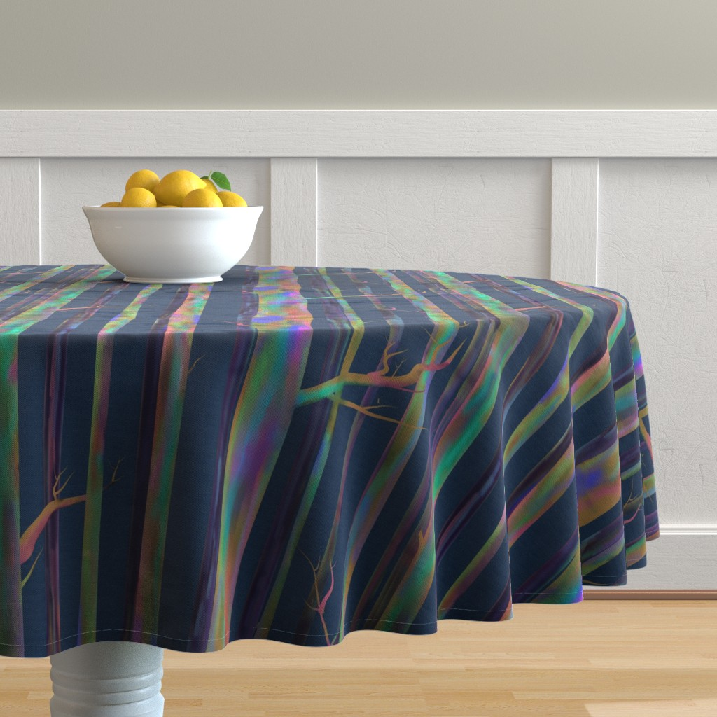 Malay Round Tablecloth featuring Rainbow Eucalyptus of Hawaii by stasiajahadi