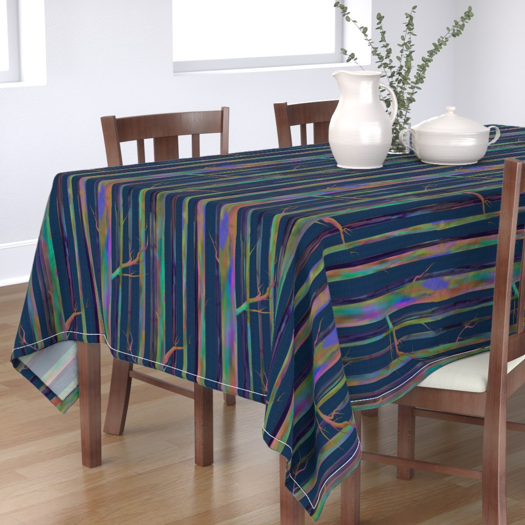 Bantam Rectangular Tablecloth featuring Rainbow Eucalyptus of Hawaii by stasiajahadi