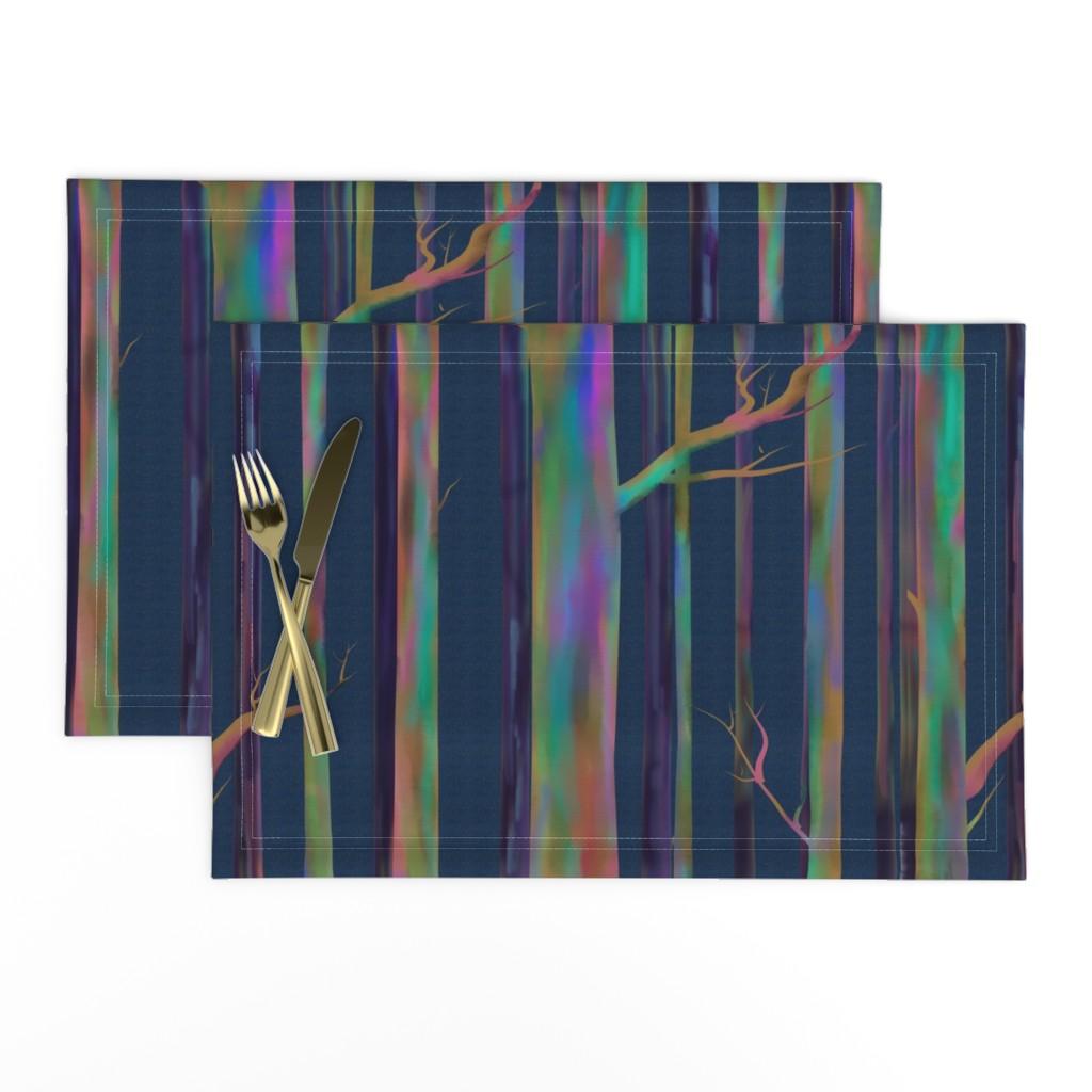 Lamona Cloth Placemats featuring Rainbow Eucalyptus of Hawaii by stasiajahadi
