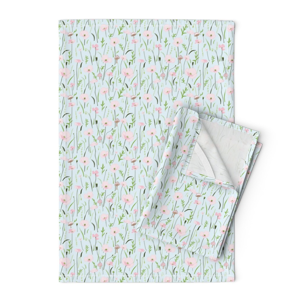 Orpington Tea Towels featuring Wonder Floral Sky by melissa_colson