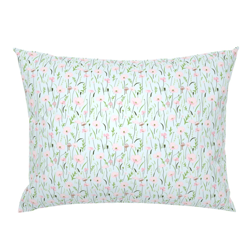 Campine Pillow Sham featuring Wonder Floral Sky by melissa_colson