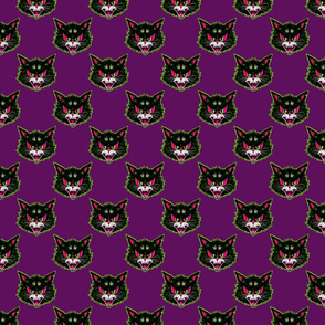 Vintage Cat (on purple)