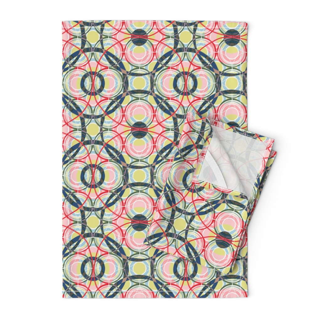 Orpington Tea Towels featuring 2018 Circle New Triangle by gigi&mae