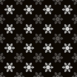 Snowflake Pattern | Black and White
