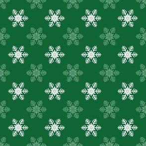 Snowflake Pattern | Green and White