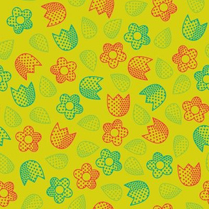 Pop Bot Ditsy Yellow
