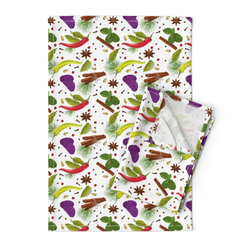 Orpington Tea Towels featuring Seasoning by purple-bird