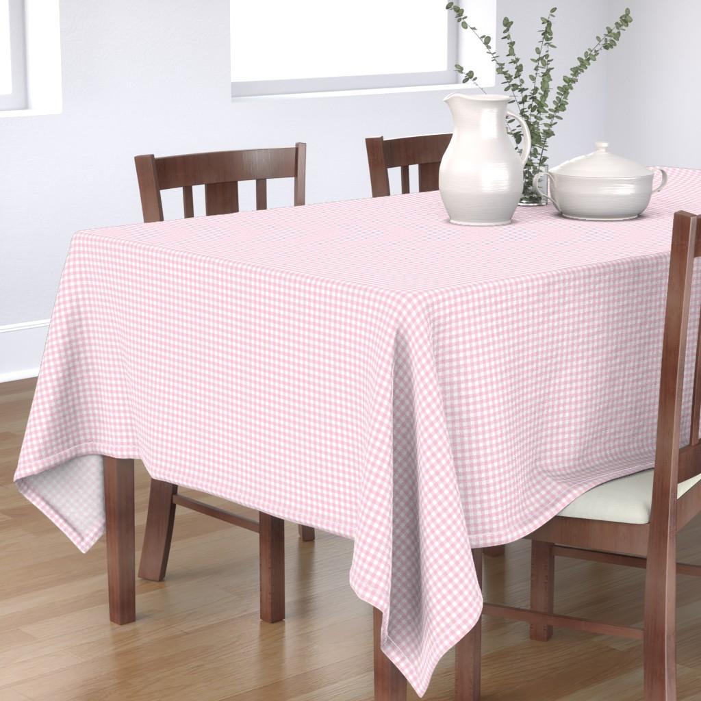 Bantam Rectangular Tablecloth featuring Woodland Gingham Petal by melissa_colson