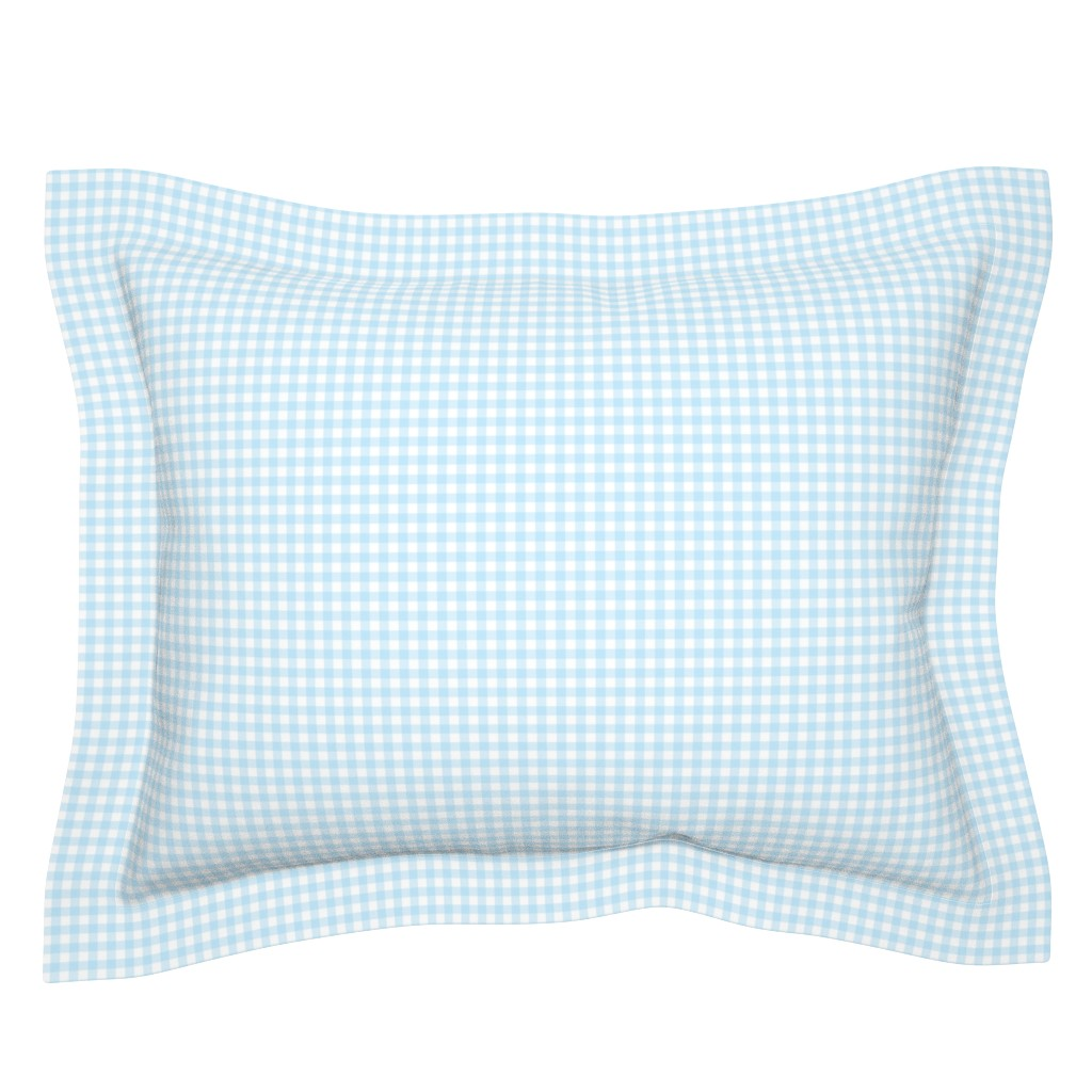 Sebright Pillow Sham featuring Woodland Gingham Sky by melissa_colson