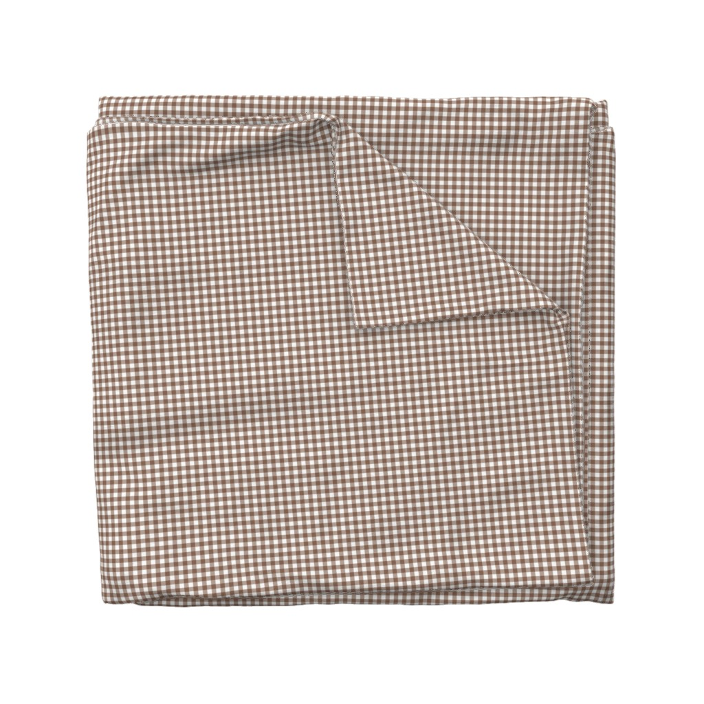 Wyandotte Duvet Cover featuring Woodland Gingham Bark by melissa_colson