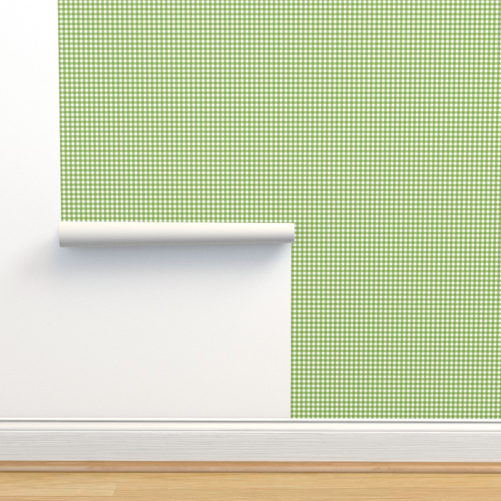 Isobar Durable Wallpaper featuring Woodland Gingham Grass by melissa_colson
