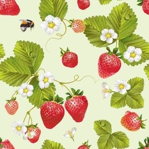 Strawberry & bumblebee