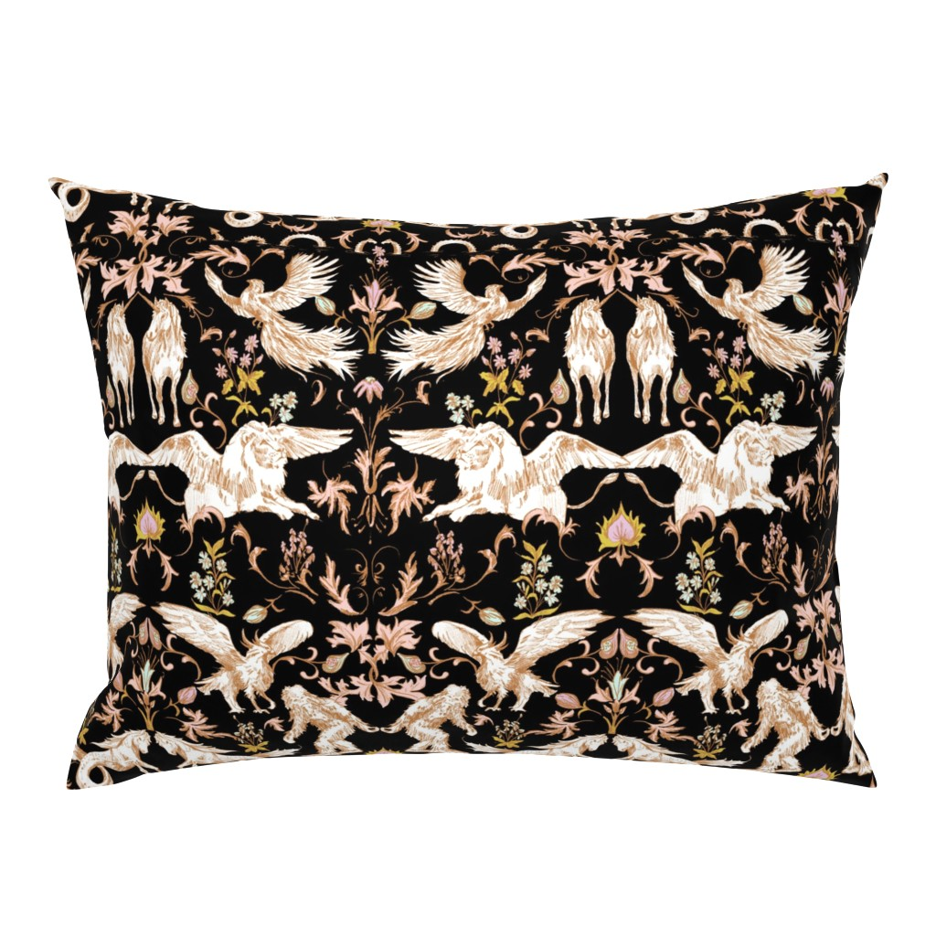 Campine Pillow Sham featuring FOLKTALE_NIGHT by pattern_state