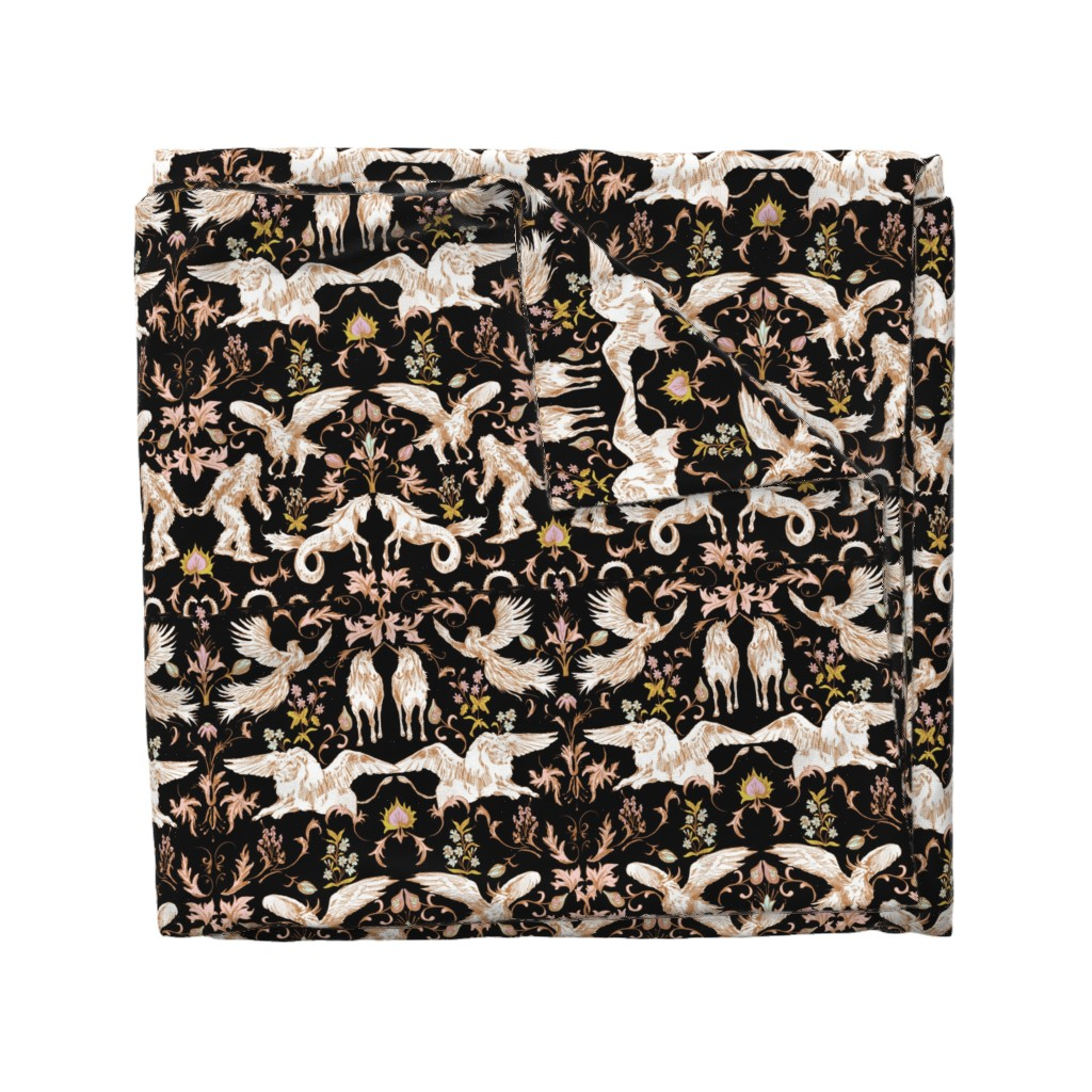 Wyandotte Duvet Cover featuring FOLKTALE_NIGHT by pattern_state
