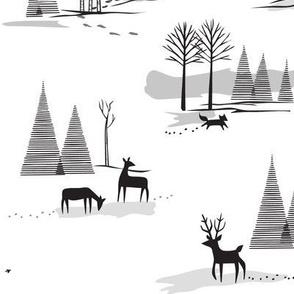 Yeti Toile in Black & White