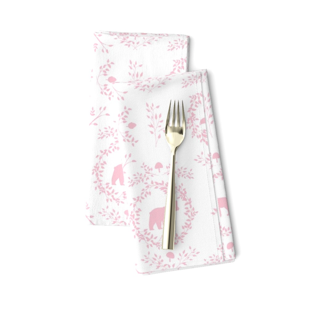 Amarela Dinner Napkins featuring Woodland Silhouette Petal by melissa_colson