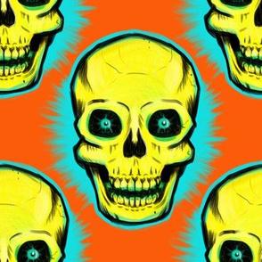 Extra Large Vintage Skull (on orange)