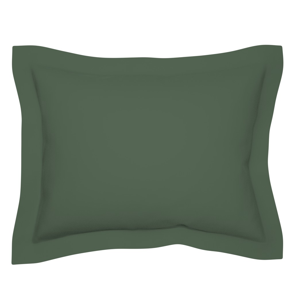 Sebright Pillow Sham featuring JP17 - Sage Green Solid by maryyx
