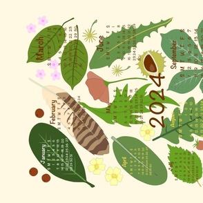 Nature Table 2021 Calendar Tea Towel