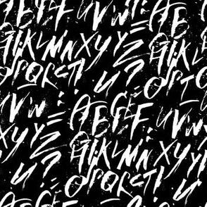 Colapen Calligraphy Latin Alphabet Letters