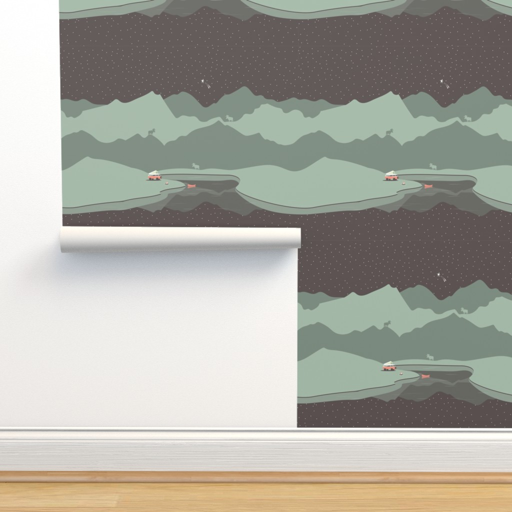 Isobar Durable Wallpaper featuring Into The Wild - Panel by papercanoefabricshop