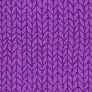violet knit pattern