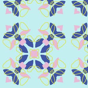 Kaleidoscope blot, in cools