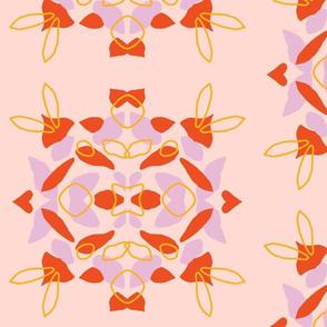 Kaleidoscope Blot, in warms