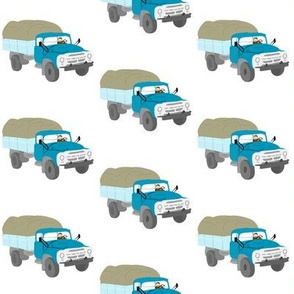 Russian blue truck