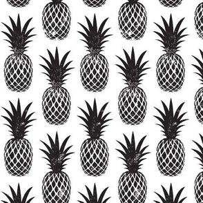 pineapples in black