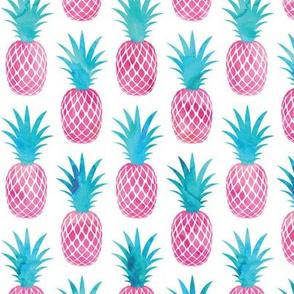 pineapples - watercolor pink