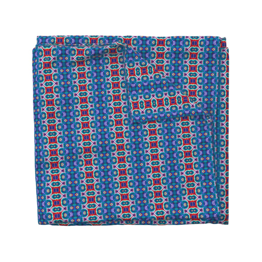 Wyandotte Duvet Cover featuring Patriotic Curly Totem by just_meewowy_design