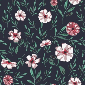 Neutral Floral Watercolor 35 (bedding)