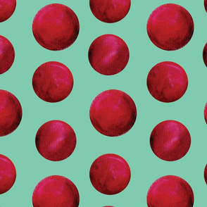 berry dots-mint and magenta