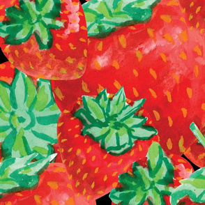 strawberies packed-on black-01