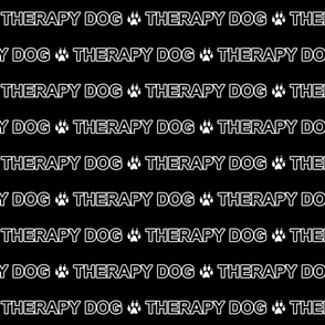 Basic Therapy dog text - white