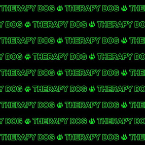 Basic Therapy dog text - green